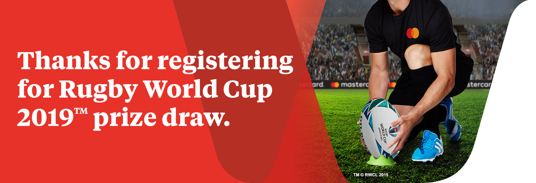 Thanks for registering for Rugby World Cup 2019 prize draw